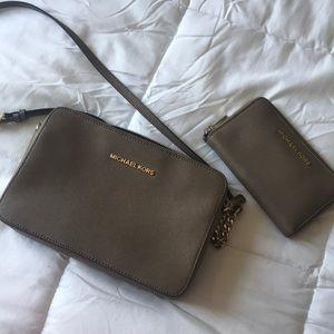Michael Kors crossbody bag with matching wallet